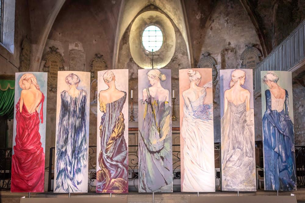 Nanou Autin, Peinture, Exposition à la Cathédrale de la Cité Médiévale de Vaison-la-Romaine en 2016