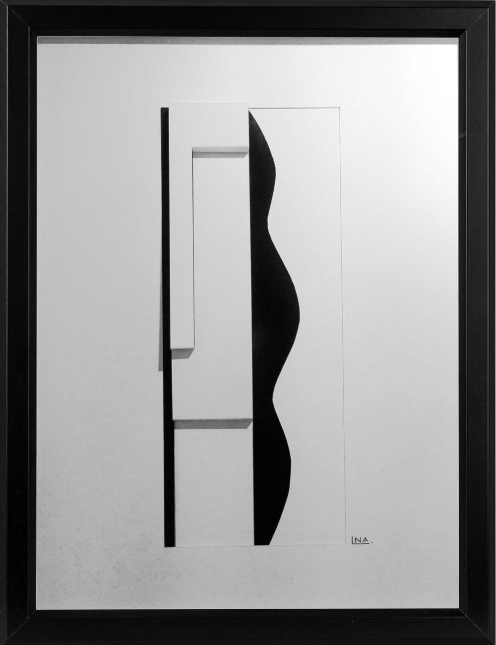 Nanou Autin, Volumes, Pepita, Papiers pliés, encre de chine 35 X 24cm - 2015
